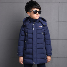 Brand new boy boy winter jacket down jacket in winter long thick fur hooded children down