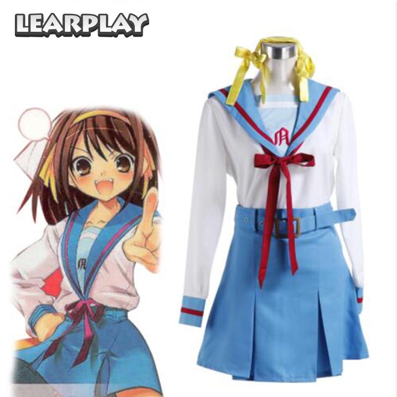 The Melancholy of Haruhi Suzumiya Cosplay Costumes Girl Shool uniform Party fancy Dress Halloween Christmas Suits