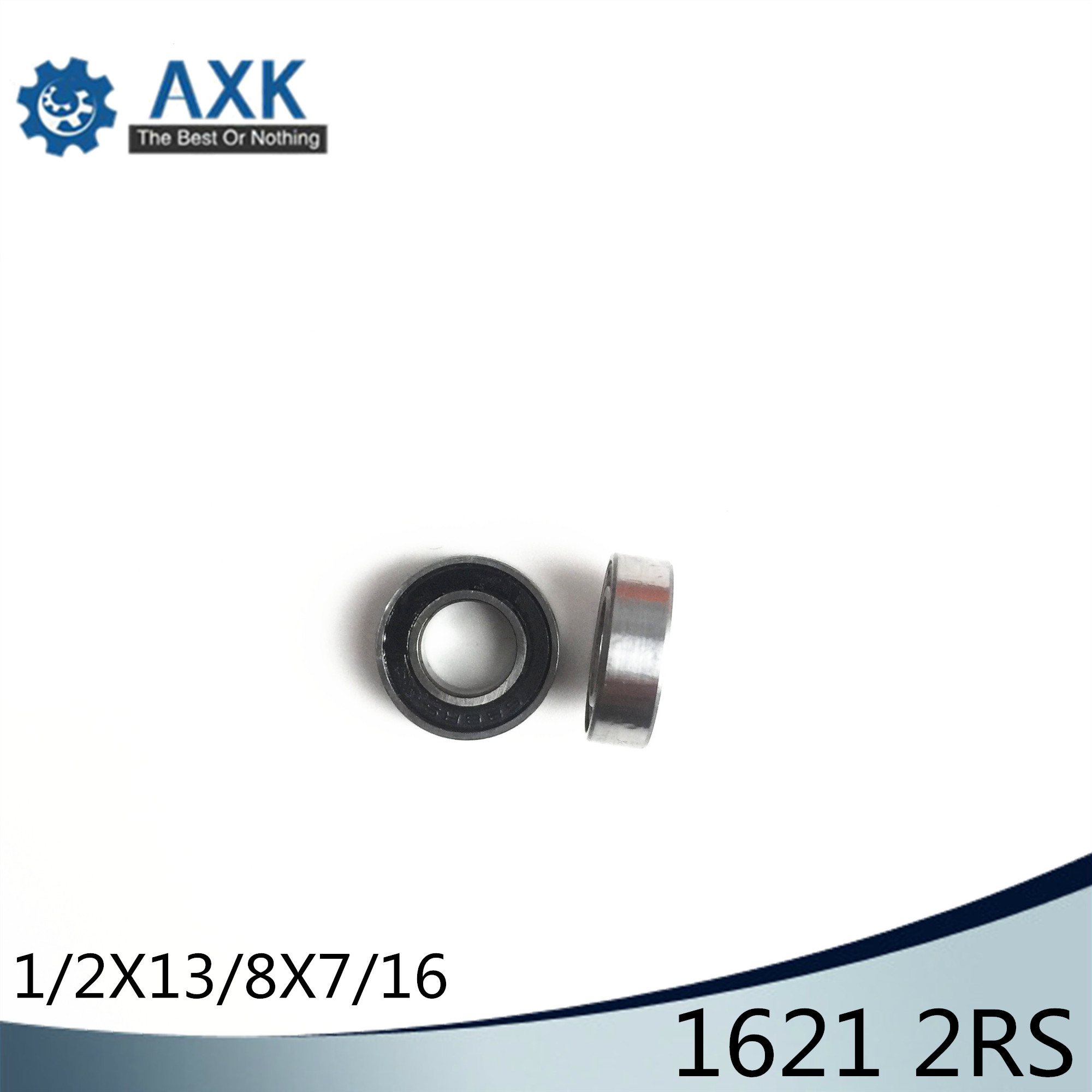 1621 2RS ABEC-1 (10PCS)  1/2x1 3/8x7/16 inch Ball Bearings 12.7mm x 34.925mm x 11.112mm 1621RS1621 2RS ABEC-1 (10PCS)  1/2x1 3/8x7/16 inch Ball Bearings 12.7mm x 34.925mm x 11.112mm 1621RS