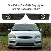 Pair Of Car Lower Bumper Grille Fog Lights LED Lamp For Ford Focus 2004 2007