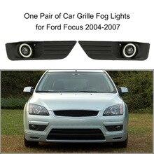 Пара Автомобиля Нижняя Бампер Решетка Противотуманные Фары СВЕТОДИОДНЫЕ Лампы для Ford Focus 2004-2007