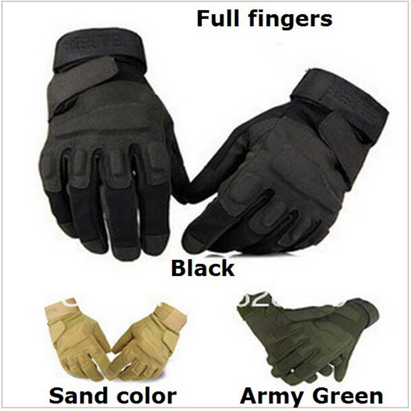 Funsport US Half Finger Army Military SWAT Police Hard Knuckle Handschuhe Gloves black  M