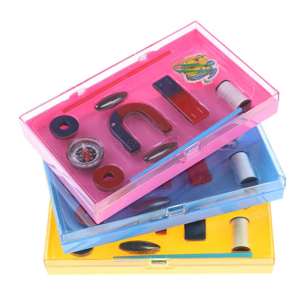 Esperimento giocattolo bussola Del Capretto 1 set Magnete In Ferrite Kit Istruzione Natura Scienza