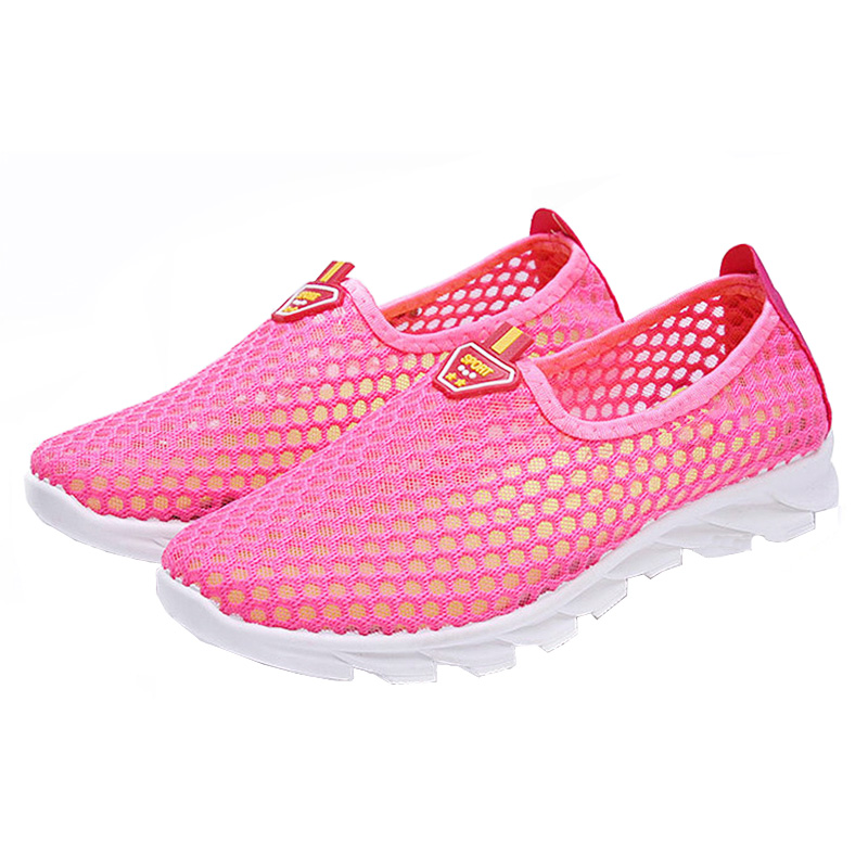 2018 New Women Shoes Women Breathable Mesh Sneakers Shoes Ballet Flats Ladies Slip On Thick Soled Flat Sneakers Sapato Feminino summer women ballet flats mary jane shoes buckle strap black casual wedges shoes ladies anti slip slip on flat sapato feminino