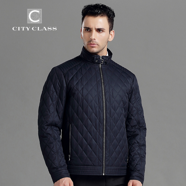 City Class 2015 Top New Spring Autumn Man Casual Jacket Business Stand Collar Fashion Quilted Jacket Outwear Free Shipping 15128
