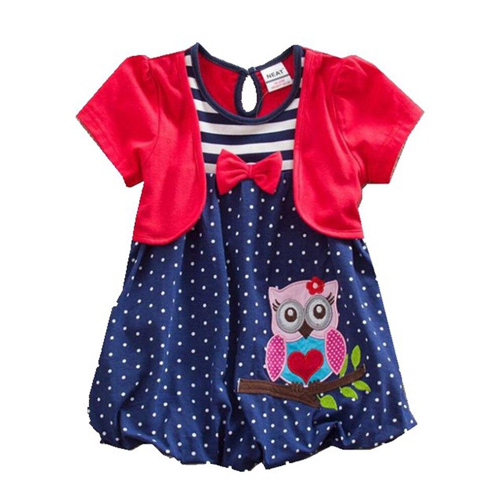 Baby Mädchen Kurzarm Kleid bestickt Baumwolle Sommer Mädchen zwei - Kinderkleidung - Foto 1