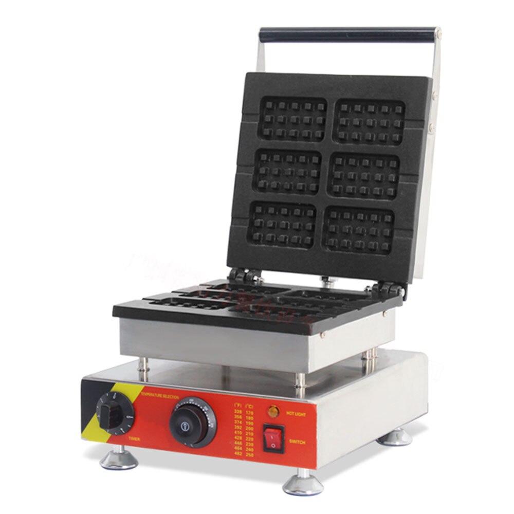 Нержавеющая сталь, вафельница Baker коммерческий Электрический вафельница время Контроль температуры торт закуска печь Кухня инструменты