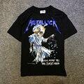 2017 verão Heavy Metal crânio Justin bieber Doris temor de deus do rock t-shirt de manga curta Tee