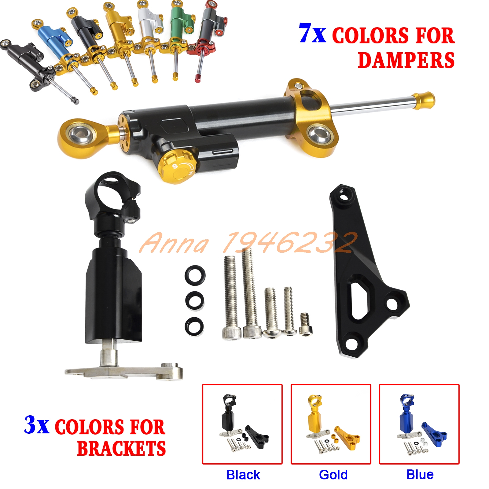 Motorcycle CNC Steering Damper Stabilizer & Bracket For BMW S1000R S1000 R 2014 2015 2016 (Not for RR model) universal new cnc aluminum motorcycle steering damper stabilizer adjustable for yamaha bmw g310r s 1000 rr s1000rr s1000 r hp4