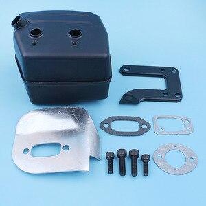 Image 2 - Muffler Exhaust Deflector Bracket Gasket Bolt Kit For Jonsered 625 II 630 Super 670 Champ Chainsaw Replacement Part