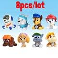 8 unids/lote Baño Juguete Perro Juguetes de Anime Kid Toy Cachorro de perro En Ruso Patrulla Patrulla Patrulla Canina Juguetes Para Niño regalo