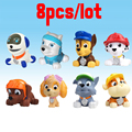 8pcs/lot  Bath Toy Dog Patrol  Anime Toys  dog In Russian Kid Toy Puppy Patrol Patrulla Canina Toys  For Child Gift
