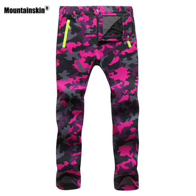 Mountainskin Women Men Fleece Pants Waterproof Warm Windproof Pant Outdoor Fishing Camping Hiking Skiing Trousers Brand VA281 3