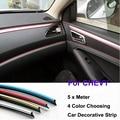 5 Meter  PVC decorative tape Auto dash panel trim strip Chevy Cruze Aveo Malibu Epica Car Rein Side moulding decoration Strip