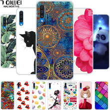 For Samsung A50 Case A505F 6.4'' TPU Soft Silicon Phone Case For Funda Samsung Galaxy A50 Case 2019 A 50 Cover Tiger Cartoon(China)