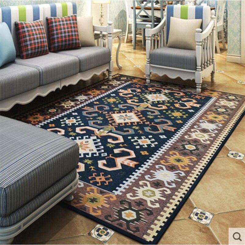 Luxus Mediterranen Stil Weichen Großes Teppiche Für Wohnzimmer Schlafzimmer Teppiche Hause Teppich Bodentürmatten set Mode Bereich Teppich Delicate-in Teppich aus Heim und Garten bei  Gruppe 2
