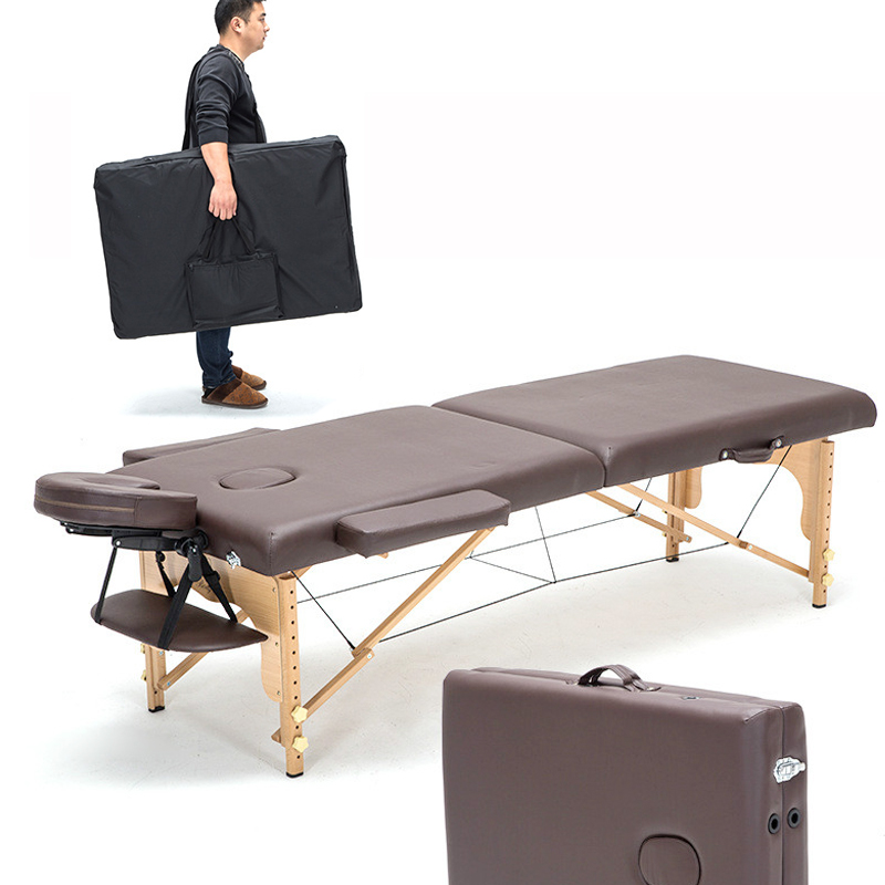 Professional Portable Spa Massage Tables Adjustable with Carrying Bag Salon Furniture Wooden Folding Bed Beauty Massage Table stable professional spa massage tables foldable salon furniture pu bed thick beauty massage table with stools adjustable