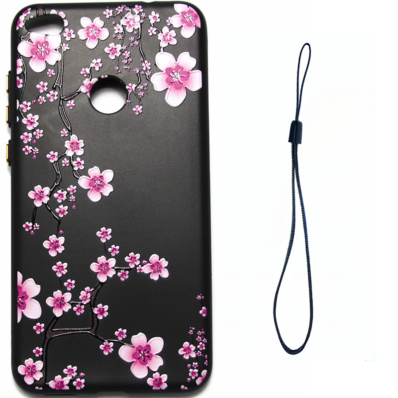 3D Relief flower silicone case huawei p8 lite 2017 honor 8 lite (8)