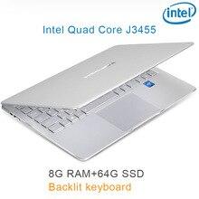 "P9-16 silver 8G RAM 64G SSD Intel Celeron J3455 19"" Gaming laptop notebook desktop computer with Backlit keyboard"