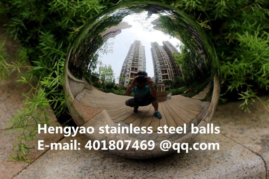 Gümüş Dia 400mm 40cm 201 paslanmayan polad içiboş top sorunsuz - Ev dekoru - Fotoqrafiya 3