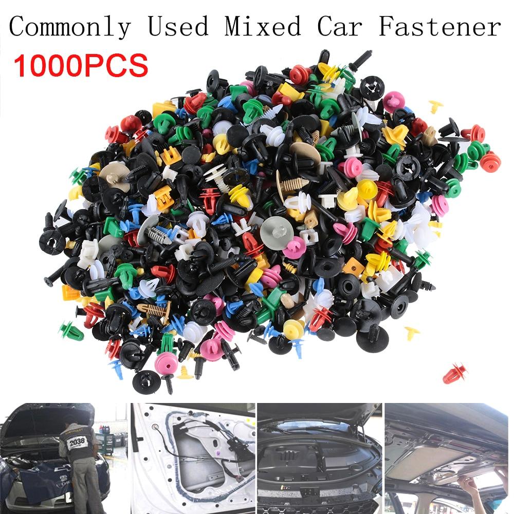 500PCS Mixed Car Door Bumper Fenders Fastener Retainer Rivet Push Pin Exter Clip
