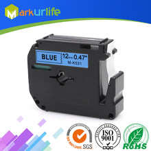 1 stks/partij 12mm * 8 m M-K531 Compatibel Brother M Tapes Label cartridge M-K531 MK531 Mk 531 voor Brother P aanraking printer PT100 PT65(China)