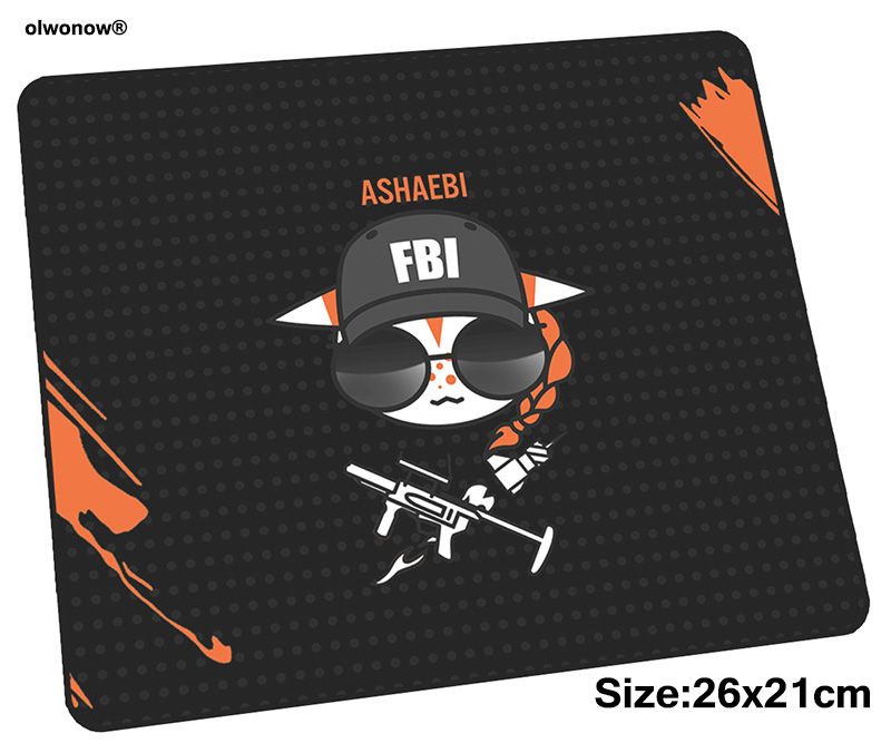 Rainbow Six Siege Mousepad 26x21cm Gaming Mouse Pad Gamer Mat Beautiful Game Computer Desk Padmouse Birthday Present Play Mats