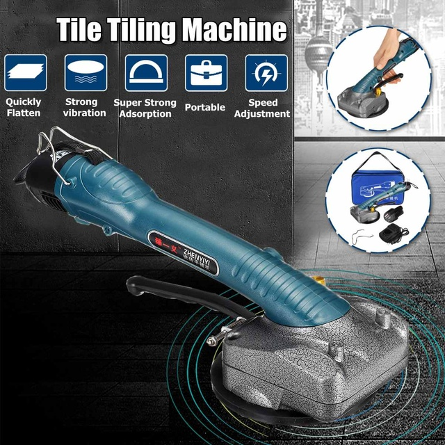 Portable Tile Vibrator For 100x100cm tiles Floor Plaster Machine Tile Laying with Battery Automatic Floor Vibrator Leveling Tool 1