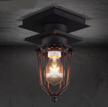 Designer ceiling lamp industrial wind retro restaurant Edison outdoor bathroom explosion proof iron ceiling light LU818370