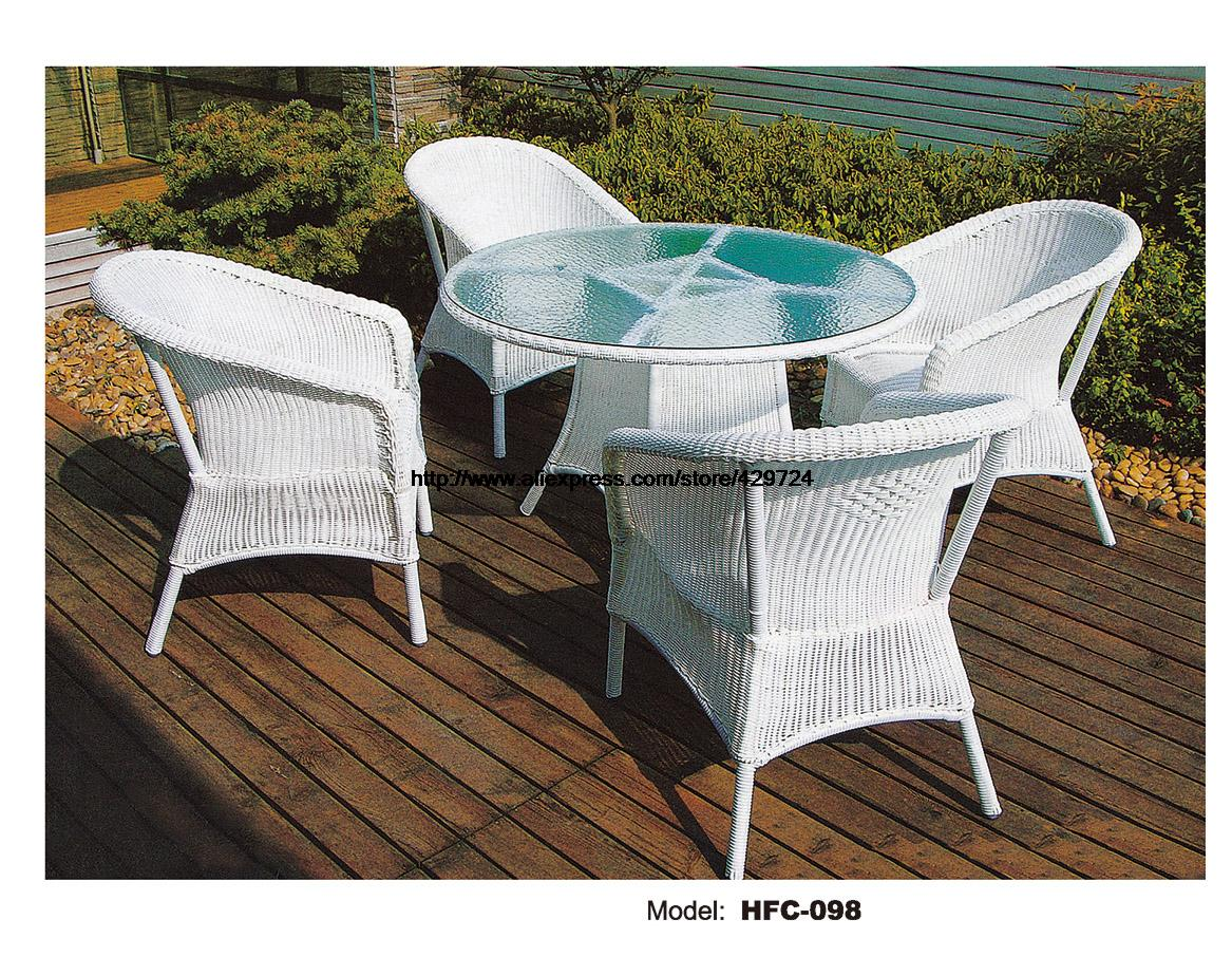 Rattan Table And Chair Set Part - 40: Luxury Rattan Furniture Leisure Modern Design Holiday Sea Beach Swing Pool  Gardern Furniture Rattan Rattan 1 Table 4 Chairs Set