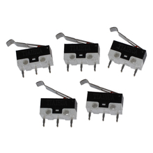 AC 125V 1A SPDT Subminiature Micro Lever Switch 5 Pcs [vk] laseeu11jredred switch pushbutton spdt 8a 125v switch