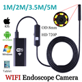 2017 Беспроводной Wi-Fi iPhone 8 мм 6 СВЕТОДИОДНЫЙ Водонепроницаемый Бороскоп Эндоскопа 1280*720 P Видео Инспекции Endocopy Камеры Videcam Мягкий кабель