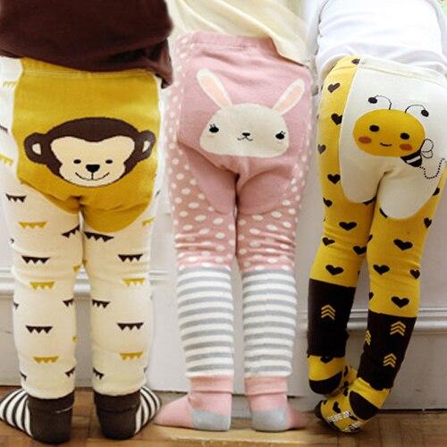 Kid's Cotton Skinny Pants with Cartoon Pattern 1