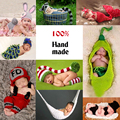 Super Lovely ! Hammock Newborn Crochet Outfits Design Warm Boy Girl Baby Hat Infant Newborn Clothes Photography Prop Fotografia