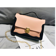 Fashion Brand Shoulder Bag Women 2019 Mini Chain Lock Handbag Female Small Leather Messenger Bag Travel Crossbody Pack Lady Girl(China)