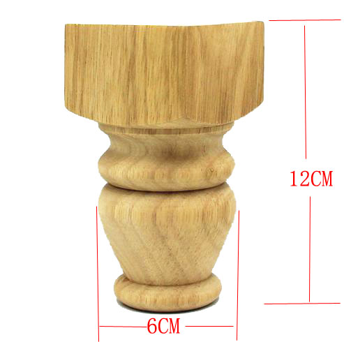 4PCS/LOT 12X6CM Rubber Wood Cabinet Feets Sofa Furniture Table Legs Foot naierdi 5cm 30cm furniture adjustable cabinet legs stainless steel table sofa metal foot with screws home improvement hardware