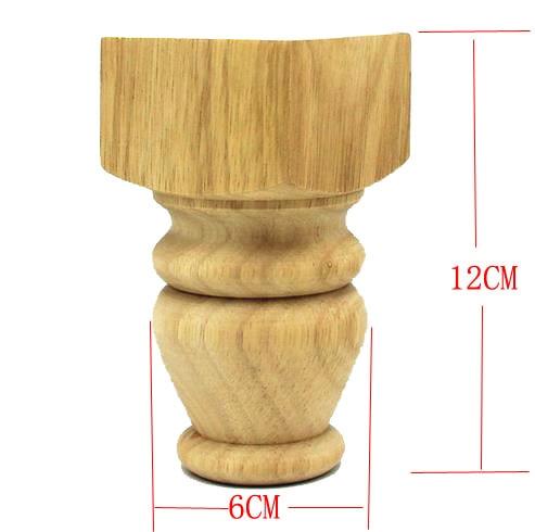цены 4PCS/LOT 12X6CM Rubber Wood Cabinet Feets Sofa Furniture Table Legs Foot