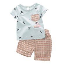 Baby Boy Vestiti di Estate Insieme Dei Vestiti Del Bambino Appena Nato  Ragazzi Infantili Del Fumetto 85a07c989bf