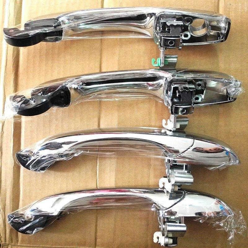 4 PCS A Set Electroplate Silver Outside Door Handle for Chrysler 300 300C 2005 2010 Dodge