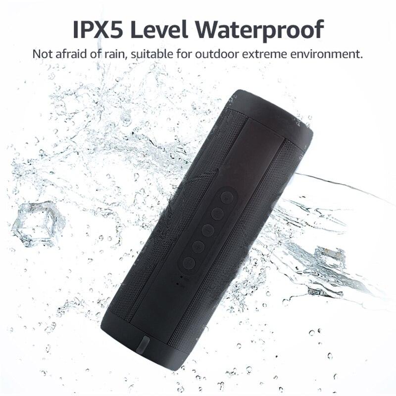 EASYIDEA Bluetooth Speaker Waterproof Wireless Speaker For Phone Subwoofer Bluetooth Speakers LED Light Wireless Loudspeaker