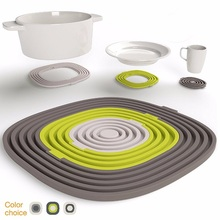 Premium Silicone Trivet Mats / Multi-function Heat Resistant Hot Pads Pot Holders Spoon Rest & Coasters 3 in 1