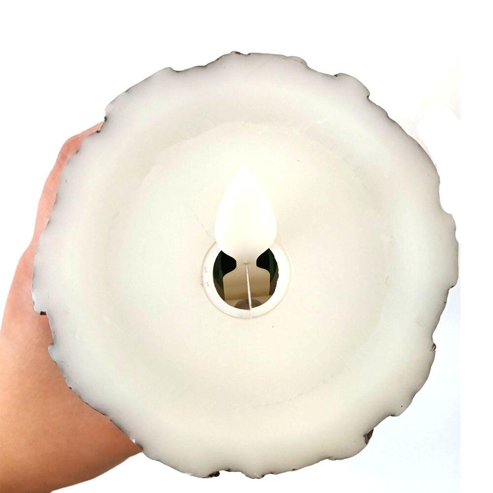 3 uds. Lámpara LED a batería con velas led con llama parpadeante con cera de vela de control remoto led para boda Deco - 6