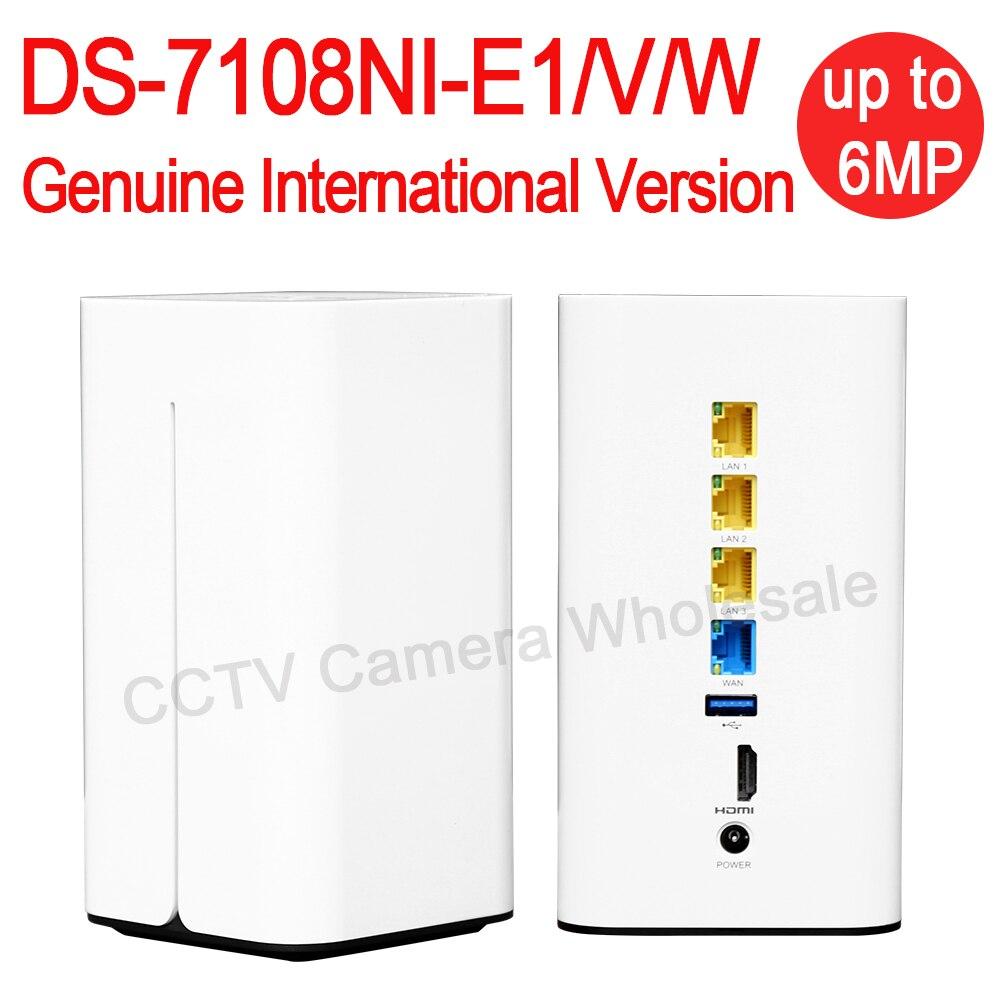 DHL Free Shipping English Version DS 7108N E1 V W Embedded MIni Wifi NVR Poe 8ch