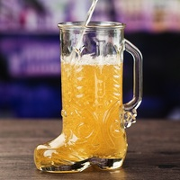Creative personality draft beer large size thickened fruit juice home glass beer glass B