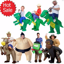 Inflatable Dinosaur T-REX Adult Fancy Dress Costume Christmas halloween Jurassic Inflatable dinosaur cosplay costumes