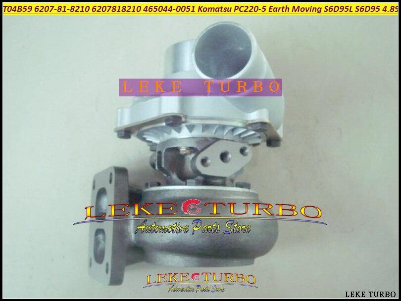 T04B59 6207-81-8210 6207818210 465044-0051 465044 Turbo Turbocharger For Komatsu PC200-5 PC220-5 Earth Moving S6D95L S6D95 4.89L