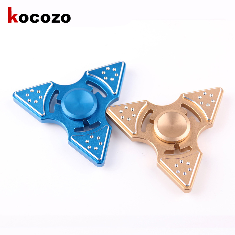 Tri Spinner Fidget Toy Metal Hand Spinner For Autism And ADHD Children Adults Focus Rotation Time