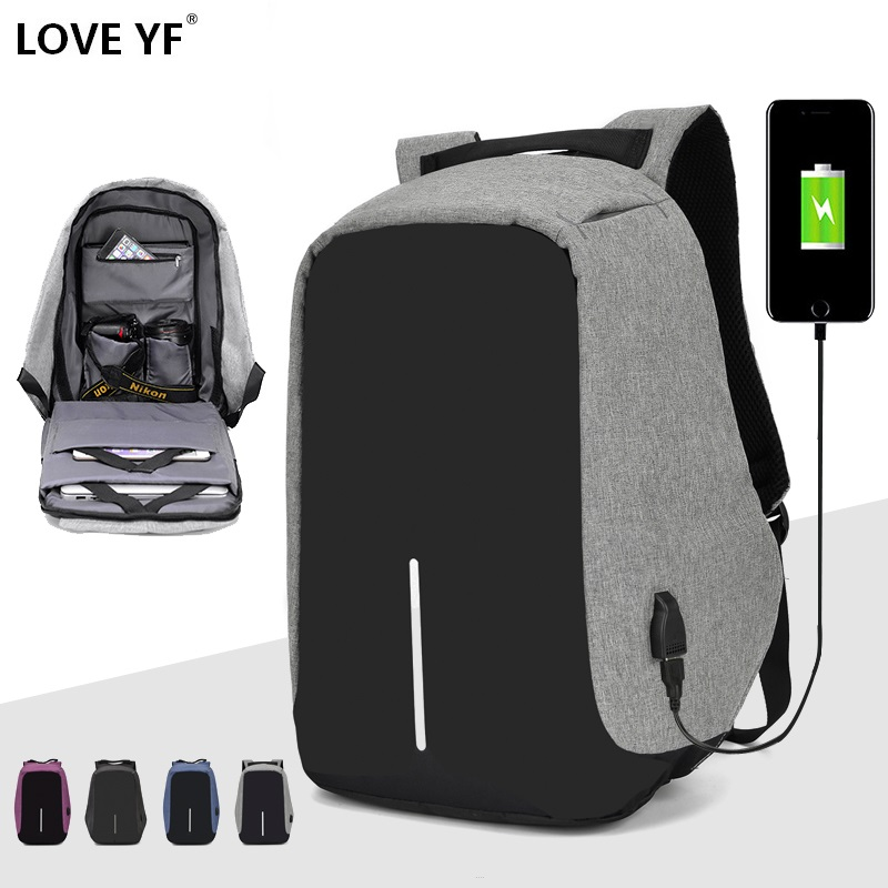 15.6 Inch Laptop Backpack Teenager Male Mochila USB Charging Anti Theft Backpack Travel Waterproof School Bag School Backpack