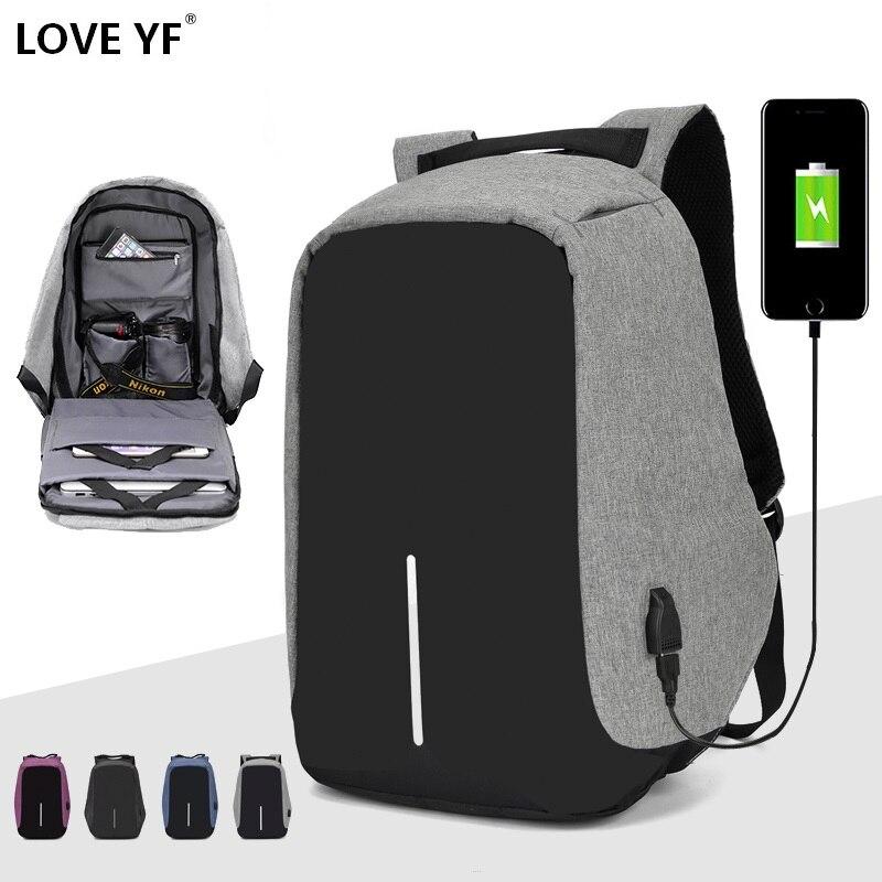 Saco de marca mochila Mochila Anti-roubo 15.6 Polegada Notebook Laptop Mochila Masculino Mochila Impermeável Escola Backbag Mochila