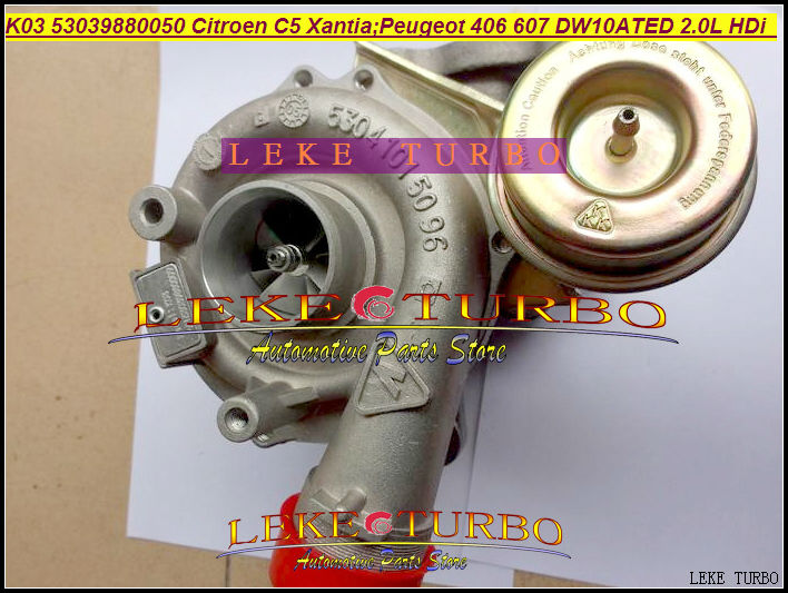 K03 24 53039880050 53039880024 53039700050 53039700024 Turbo Turbocharger For Citroen C5 For Peugeot 406 607 DW10ATED 2.0L HDi turbo cartridge chra core gt1544v 753420 740821 750030 750030 0002 for peugeot 206 207 307 407 for citroen c4 c5 dv4t 1 6l hdi
